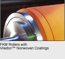 FKM Rollers with Viledon™ Nonwoven Coatings